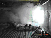 Leakage test with smoke